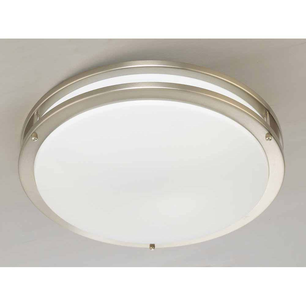 V6842 33 1 Light Brushed Nickel Flush Mount Ceiling Fixture Volume Lighting